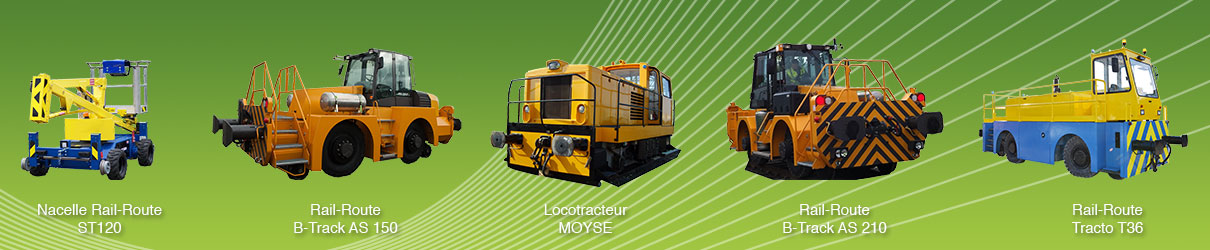 Rail route locotracteur moyse, rail route btrack AS150 AS210, tracto T36